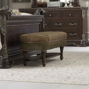 Hepburn Upholstered Bench by Astoria Grand Wonderful