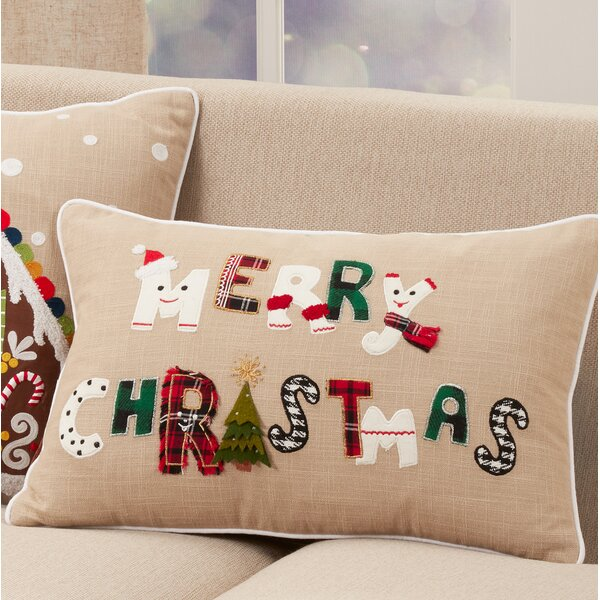 The Holiday Aisle Kingsdale Merry Christmas Holiday Rectangular 100 Cotton Pillow Cover Wayfair