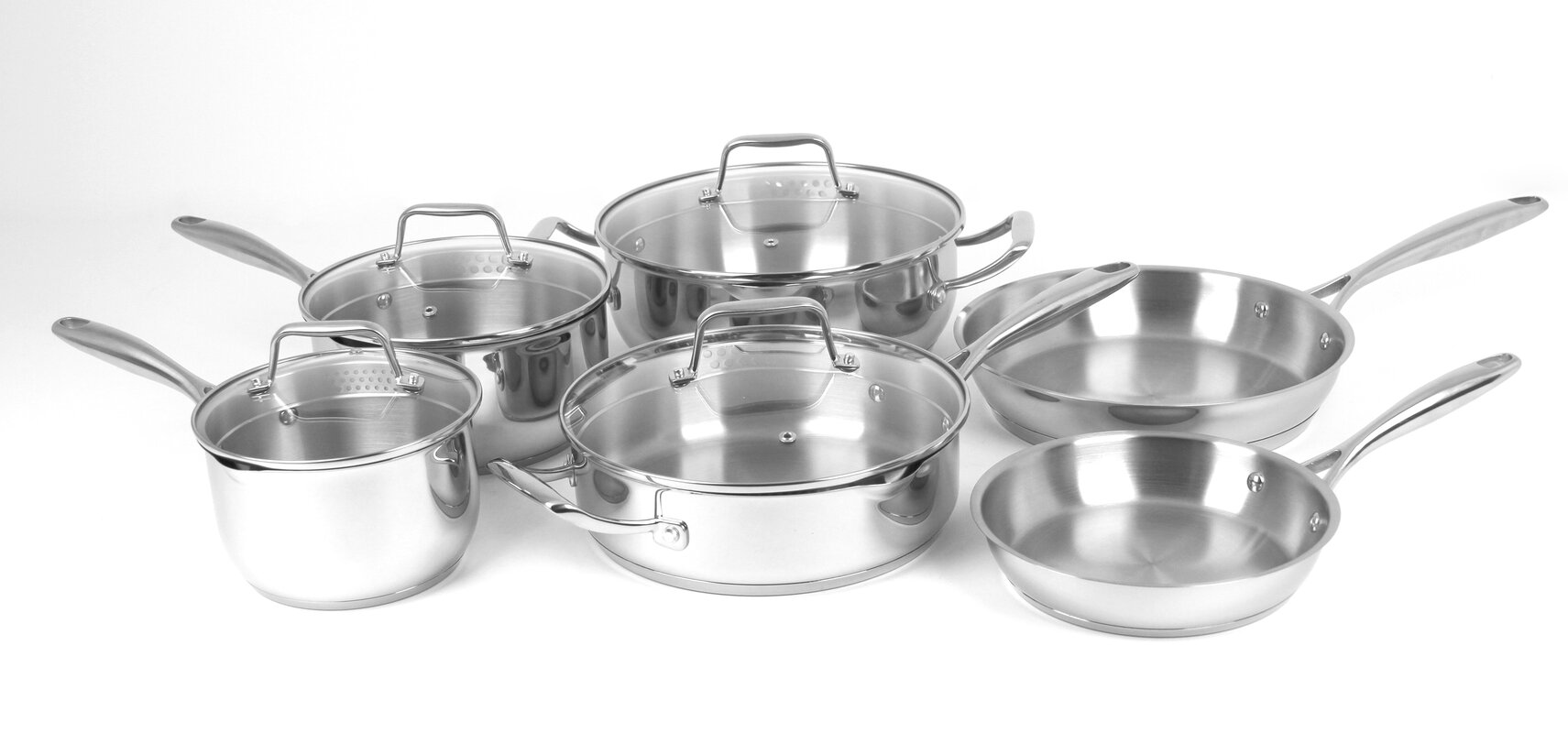 Oneida Premium 10 Piece Stainless Steel Cookware Set & Reviews ...