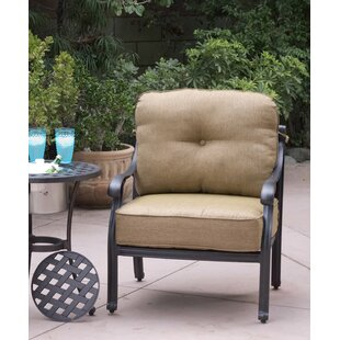 Lincolnville Patio Chair with Cushions (Set of 4) by Fleur De Lis Living