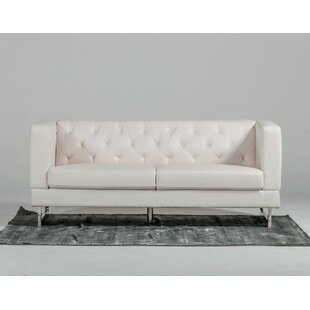 Buy clear Modern Tufted Eco-Leather Loveseat by VIG Furniture Reviews (2019) & Buyer's Guide