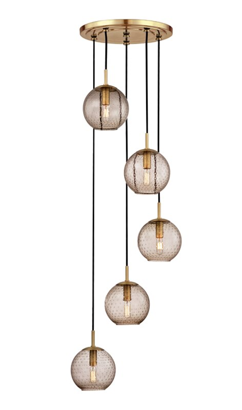 Mistana Marcellus 5 Light Cluster Globe Pendant Wayfair