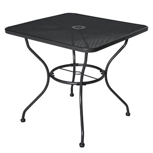 Kiel Outdoor Square Metal Dining Table
