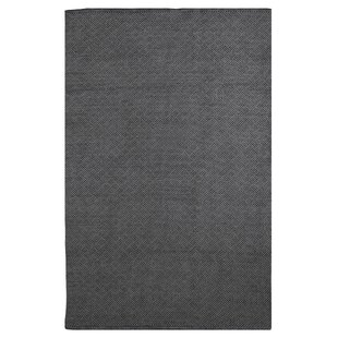Affordable Price Zen Karma Hand Woven Cotton Black Area Rug By Fab Habitat