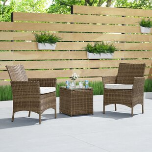 Torrington 3 Piece Rattan Seating Group with Cushions by Wrought Studio