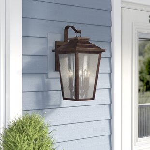 Mayhugh 4-Light Outdoor Wall Lantern by Three Posts