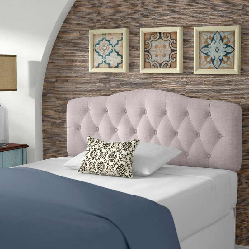 Beige Dax Upholstered Panel Headboard by Andover Mills