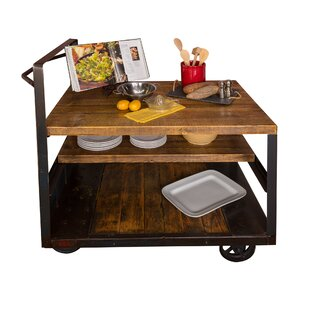 Jambusaria Vintage Factory Wood Kitchen Cart