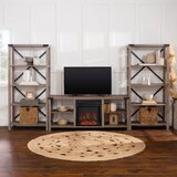 Entertainment Center for TVs up to 65 with Electric Fireplace Included by Walker Edison
