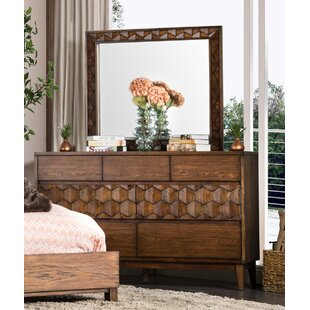 Keefe 7 Drawer Dresser with Mirror