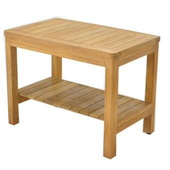 New Grade-A All Teak Wood Corner Stool Bath Seat Shower Bench Spa Outdoor Patio