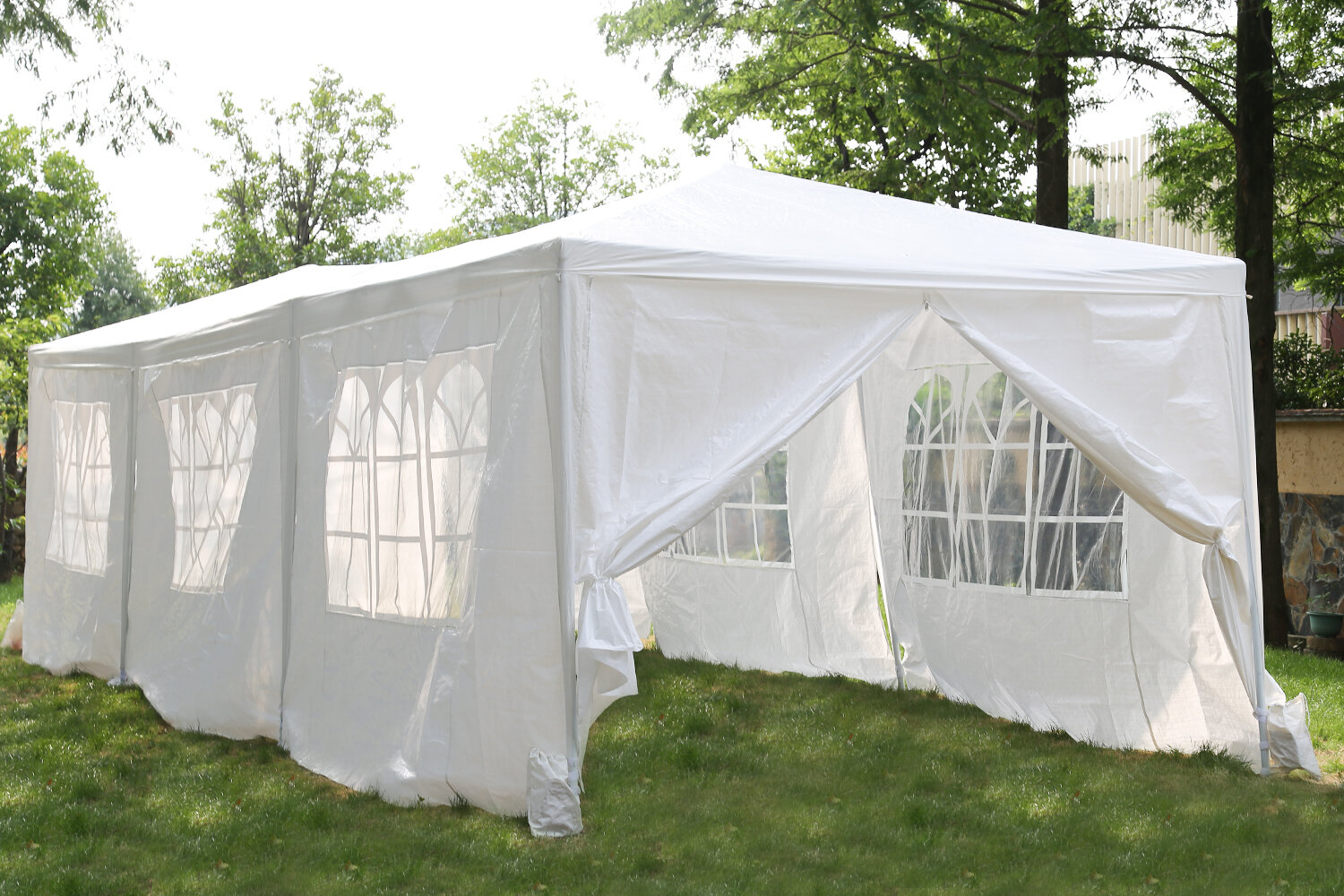 Fdw 10 X30 White Outdoor Gazebo Canopy Tent Canopy Wedding Party Tent Waterproof Camping Gazebo Bbq Shelter Pavilion 8 Removable Walls 8 Wayfair Ca