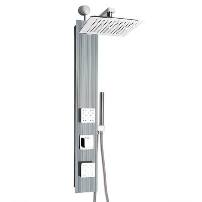 AKDY Rainfall Adjustable Head Shower Panel Finish: Gray Multi-Stripe
