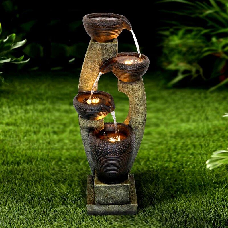 Dakota Fields Resin Fountain With Light Reviews Wayfair