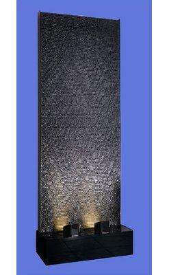 Midwest Tropical Fountain Aqua Acrylic Fall Floor Fountain with LED Light