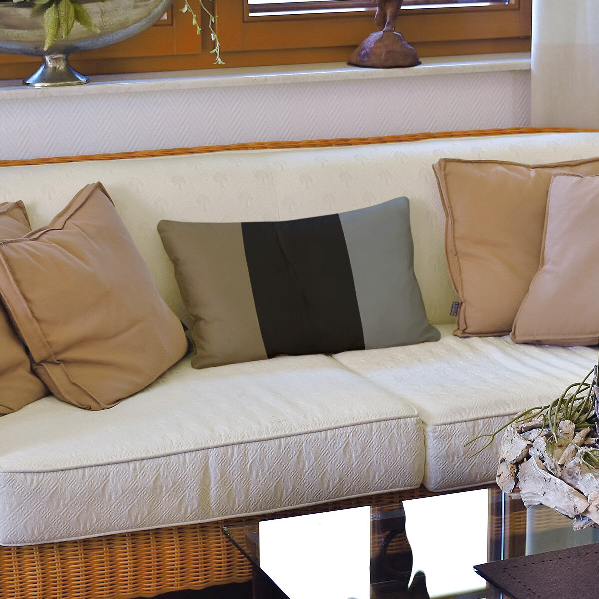 East Urban Home Colorado Hockey Striped Lumbar Pillow Wayfair