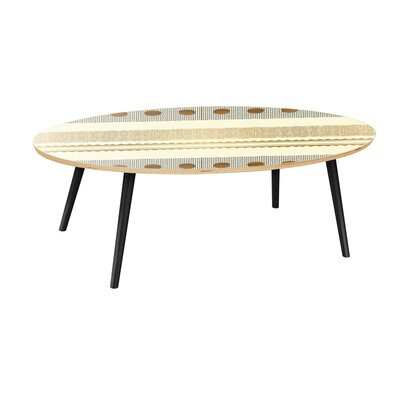 Bungalow Rose Howle Coffee Table  Table Base Color: Black, Table Top Color: Natural