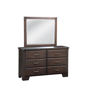 Walston 6 Drawer Double Dresser with Mirror