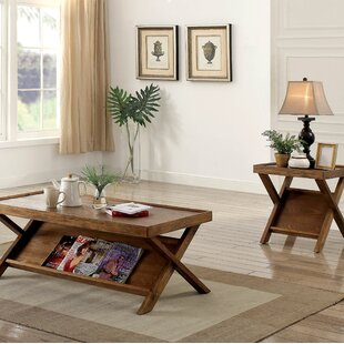 Gracie Oaks Amandari Farmhouse 2 Piece Coffee Table Set