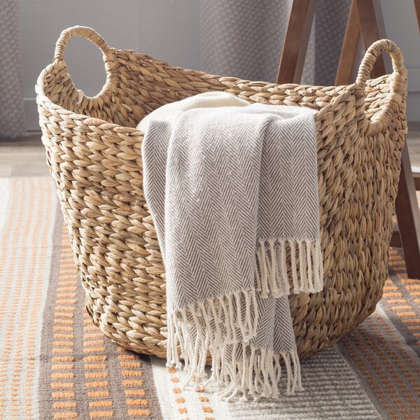 Silver Wire Basket With Handle | Tall Wicker Basket Wayfair