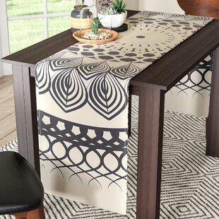 Famenxt Boho Mandala Geometric Table Runner