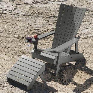 Deutsch Plastic Adirondack Chair with Ottoman