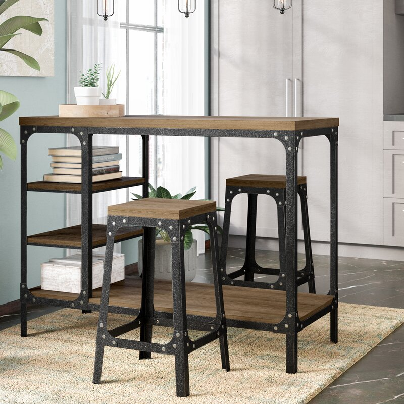 39b2b9f7bbaeb Williston Forge Terence 3 Piece Counter Height Dining Set   Reviews ...