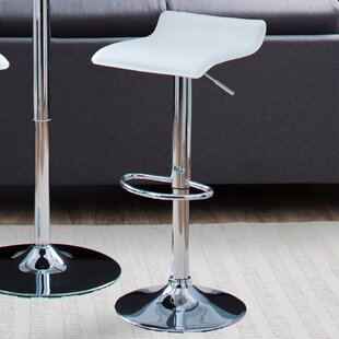 Bette Adjustable Height Swivel Bar Stool by Zipcode Design