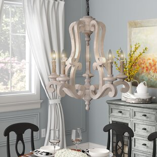 Distressed Finish White & Cream Chandeliers You\'ll Love in 2019 ...