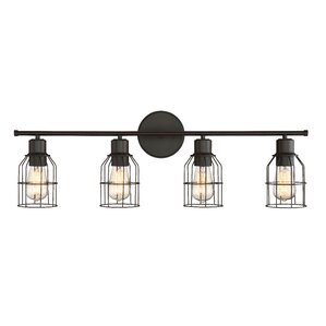 Saltzman 4-Light Vanity light  sc 1 st  Wayfair & Oil Rubbed Bronze Bathroom Vanity Lighting Youu0027ll Love | Wayfair azcodes.com