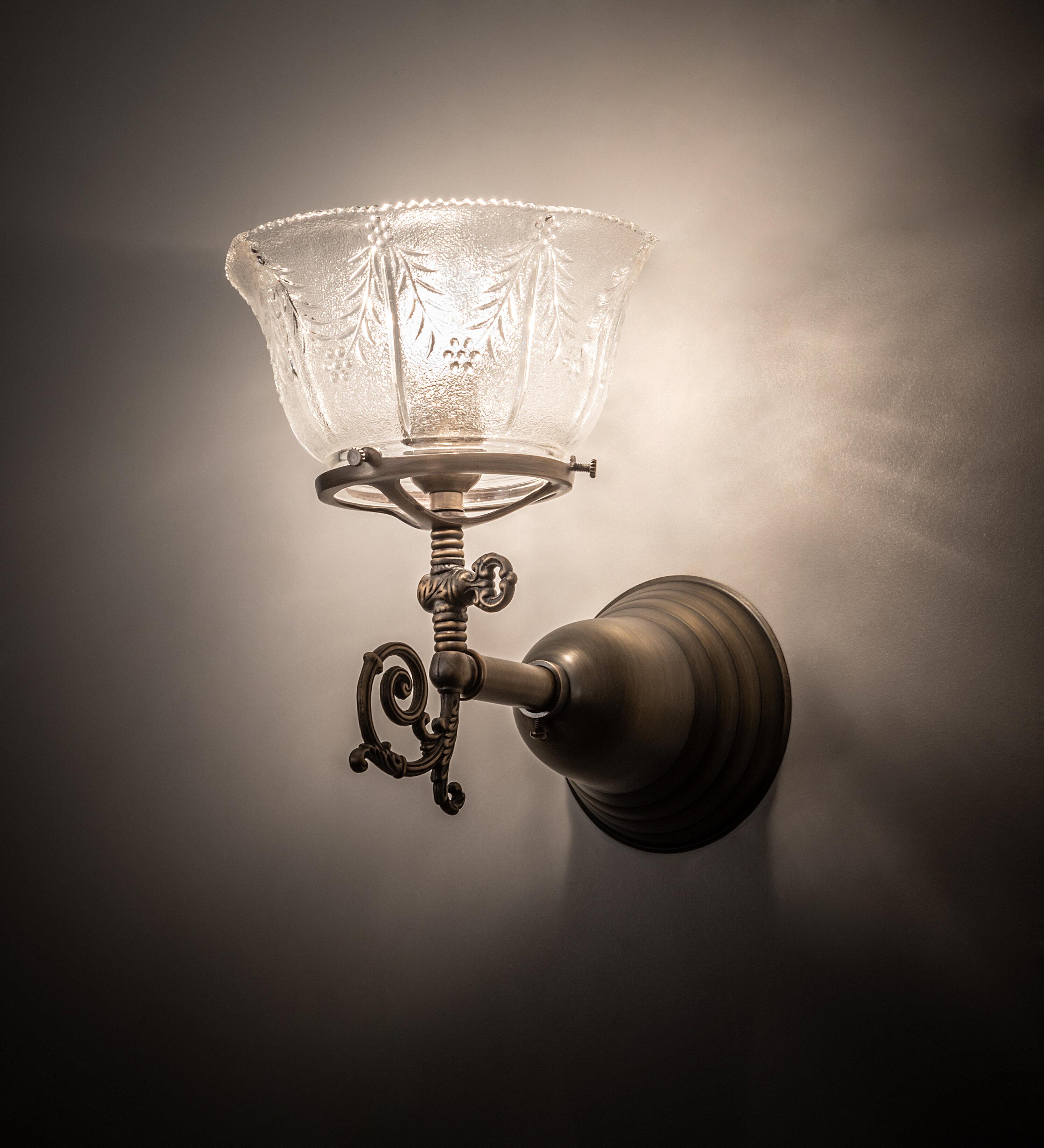 Meyda Tiffany 1-Light Revival Auburn Wheat Gas Wall Armed