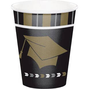 Glitz Graduation Paper Disposable Cup (Set of 24)