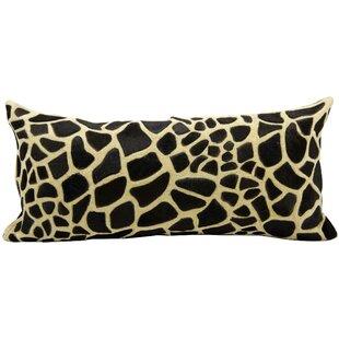Khouribga Natural Leather Hide Lumbar Pillow