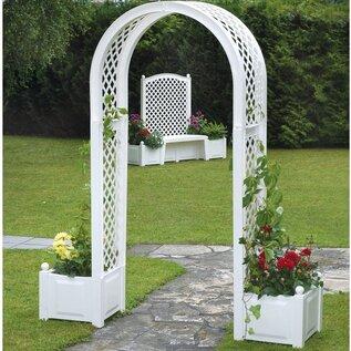 Rosenbogen Tamarac mit Blumenkästen Garten Living Beschichtung: Weiß   Garten > Pflanzen > Pflanzkästen   Garten Living