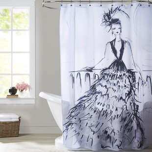 Clarkesville Feathers and Martinis Single Shower Curtain