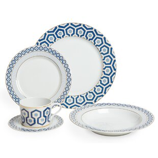 Newport 5-Piece Dinner Set  sc 1 st  Wayfair : blue willow dinner plates - pezcame.com
