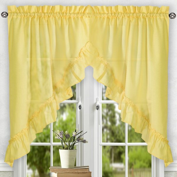 Yellow Swag Curtains | Wayfair