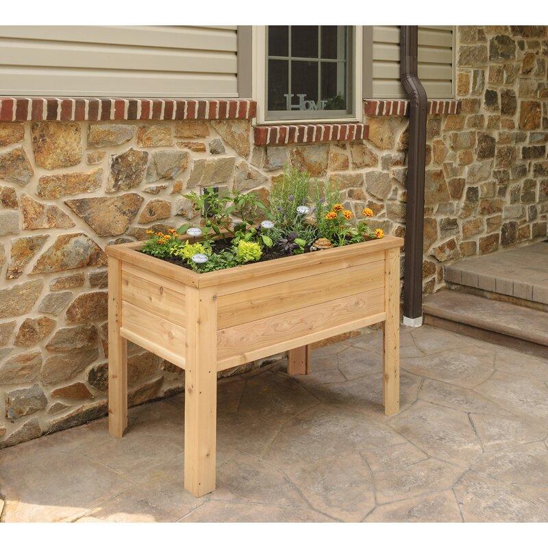 Yardcraft Elevated Cedar Planter Box Wayfair