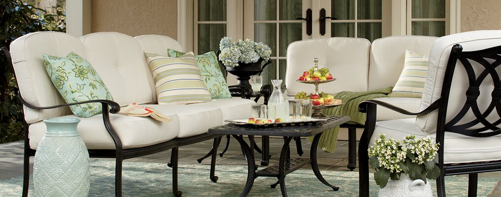 Patio furniture for small spaces Backyard Small Space Outdoor Furniture Birch Lane Small Space Outdoor Furniture Birch Lane