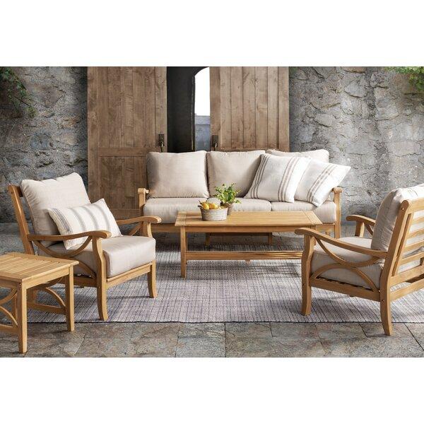 Brunswick 5 Piece Teak Sofa Seating Group With Cushions Reviews Birch Lane