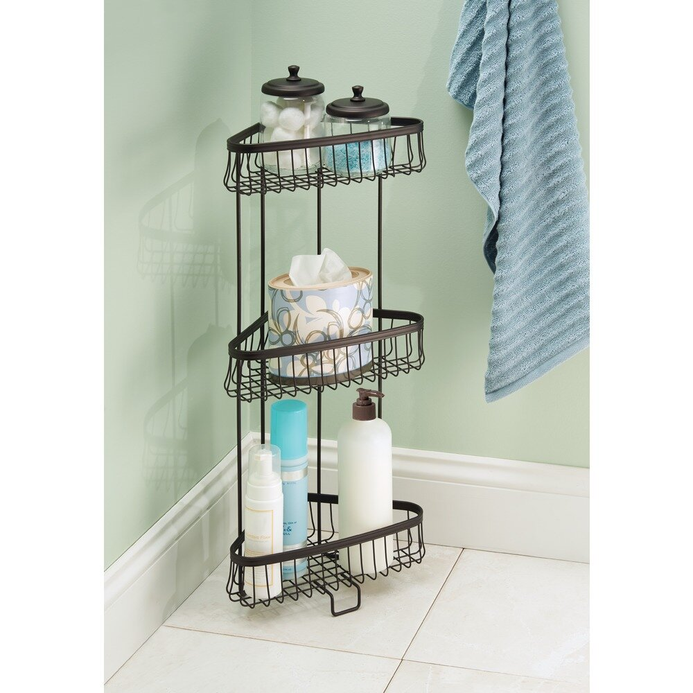 Charlton Home Micheal Steel Free Standing Shower Caddy & Reviews ...