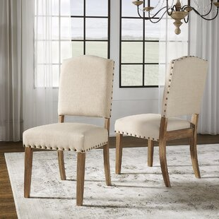 Pompon Upholstered Dining Chair (Set Of 2) by Lark Manor #1