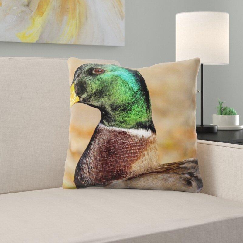East Urban Home Mallard Throw Pillow