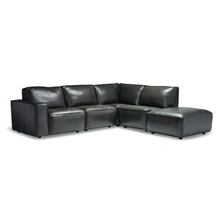 Cutrer Leather Modular Sectional by 17 Stories
