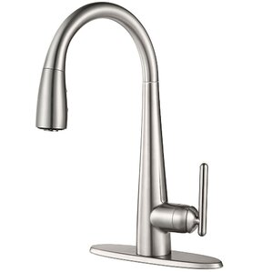 Pfister Lita Single Handle Deck Mounted Kitchen Faucet with Soap Dispenser