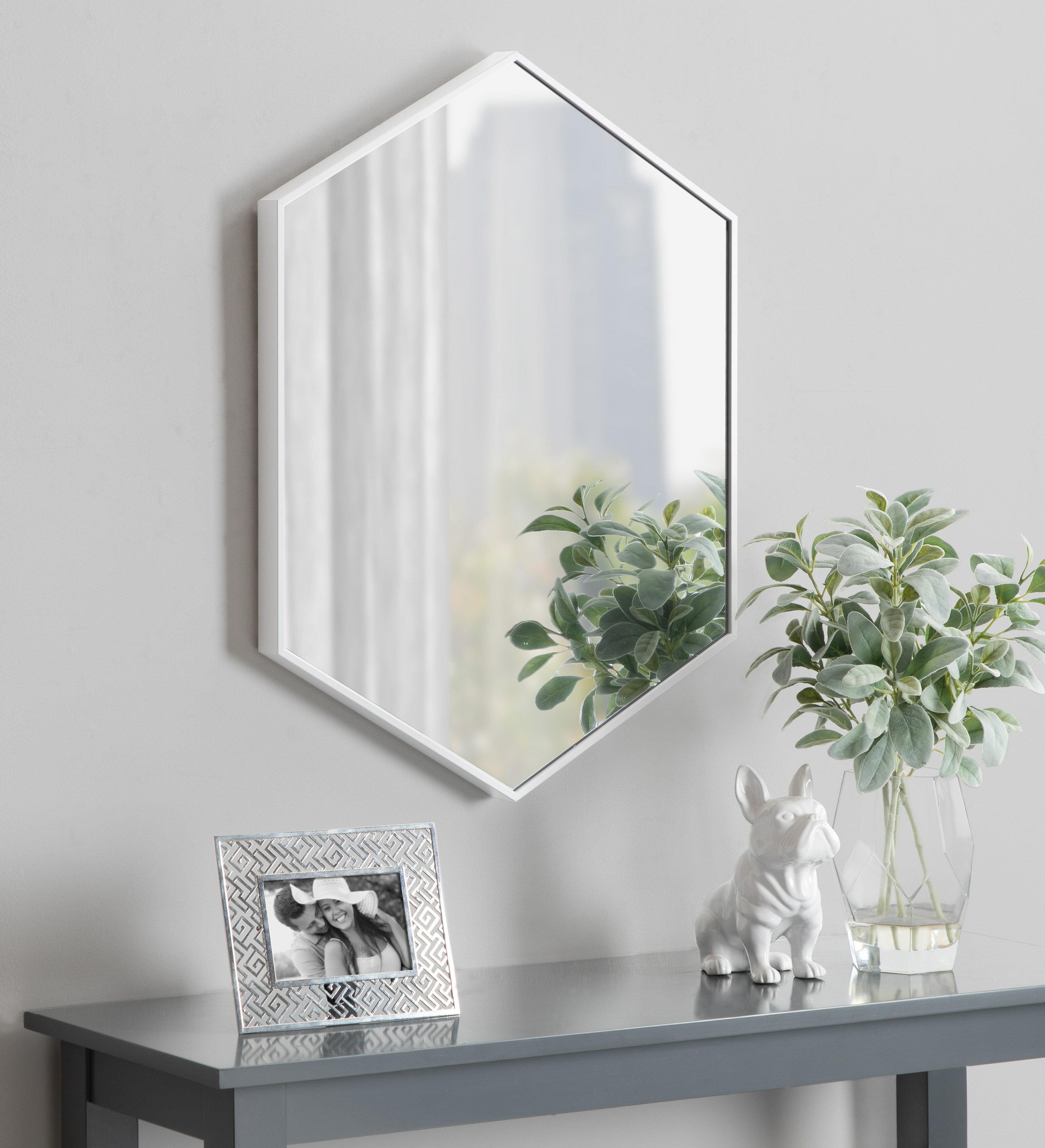 Mercury Row Logsdon Mid Century Hexagon Beveled Accent Mirror Reviews Wayfair