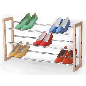 Savings 3 Tier Chrome Expandable Shoe Rack ByRichards Homewares