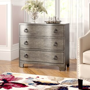 Charlesworth Traditional Style and Vintage Glam Influence 3 Drawer Accent Chest by House of Hampton