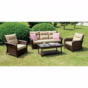 Feldhaus 4 Piece Rattan Seating Set with Cushions by Red Barrel Studio