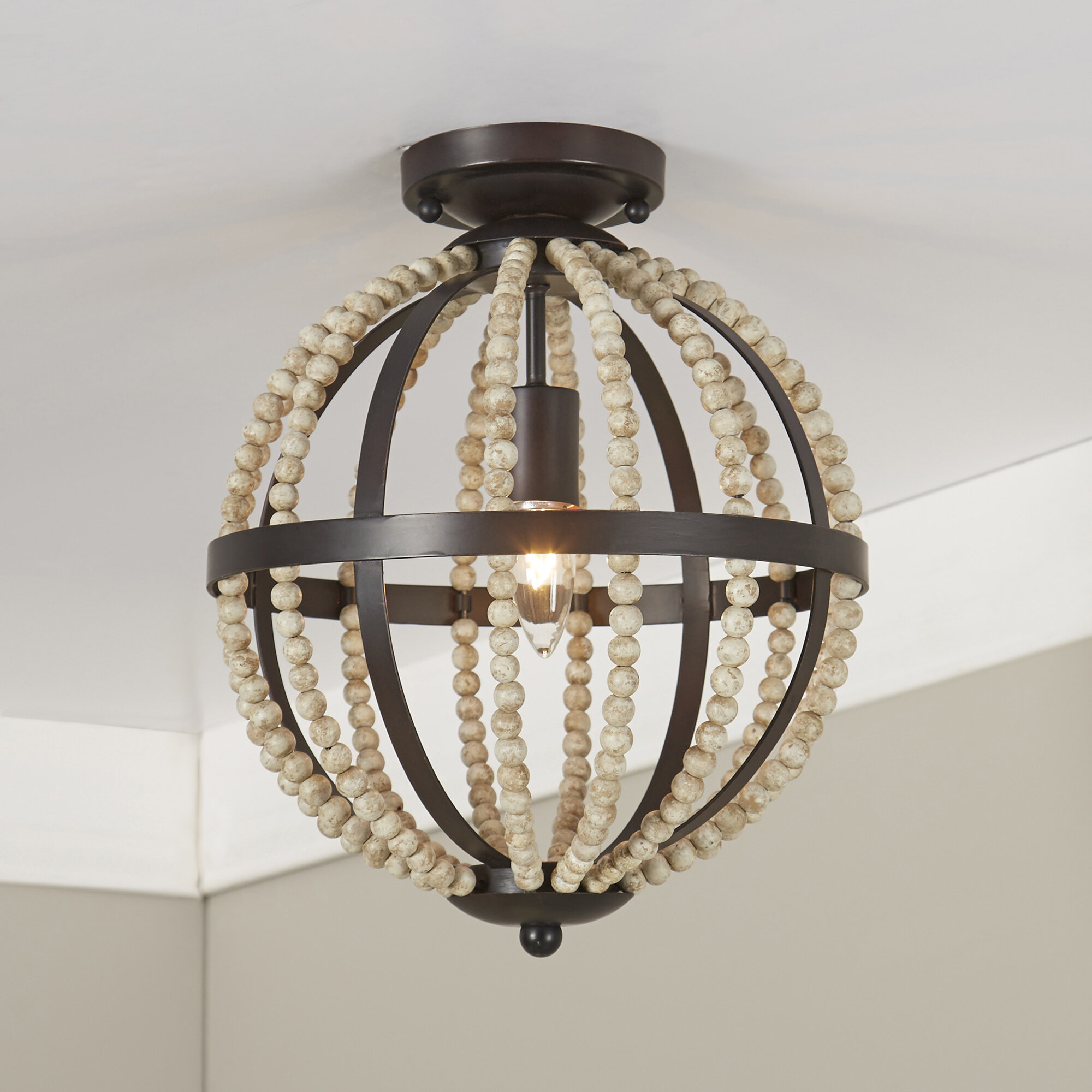 Mccown Beaded Flush Mount